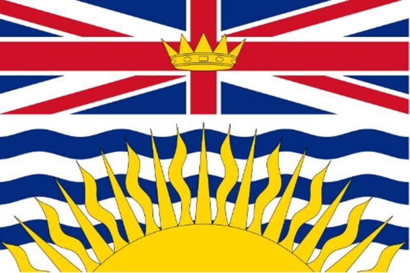 ***BRITISH COLUMBIA CANADA VINYL FLAG DECAL / STICKER**