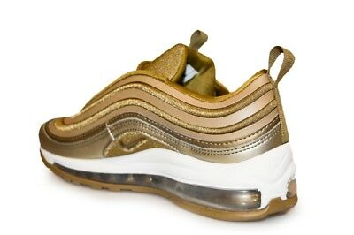 Details about Womens Nike Air Max 97 Ultra '17 917704 901 Metallic Gold White Trainers