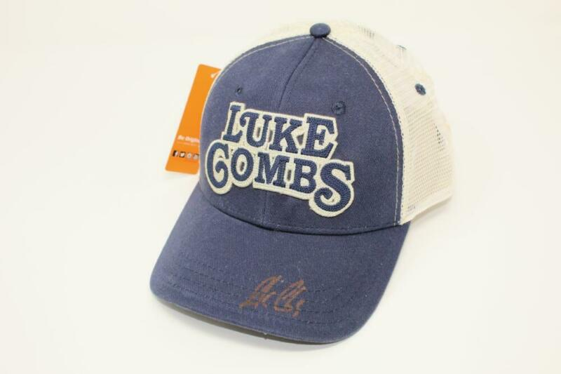 LUKE COMBS SIGNED AUTOGRAPH BASEBALL CAP - WHAT YOU SEE IS WHAT YOU GET ACOA