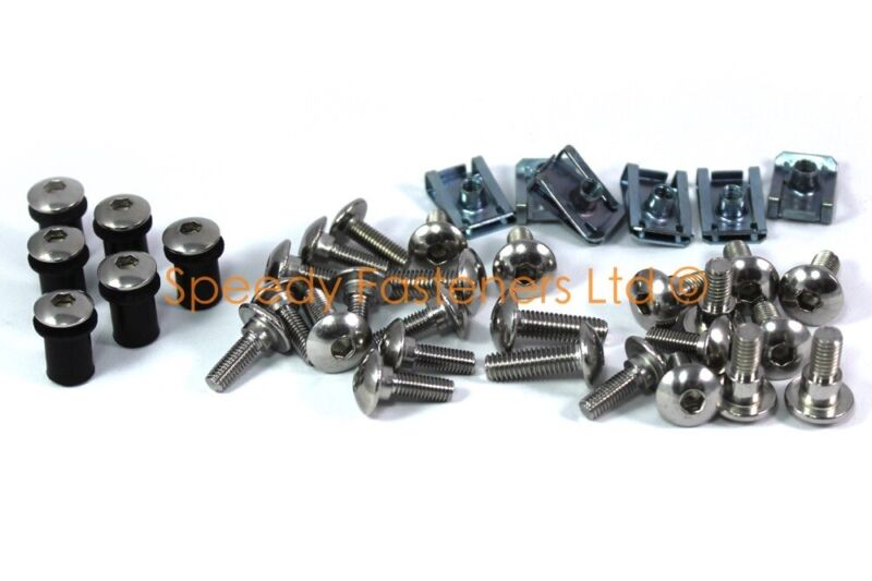 Triumph Sprint ST 1050 2007 stainless steel screen motorcycle fairing bolts kit