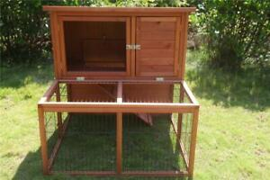 Brand New Large double storey Rabbit Hutch Ferret Cage w/ Tray