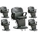 Lot of 5 - All Purpose Hydraulic Recline Barber Chair Salon Beauty Spa Styling