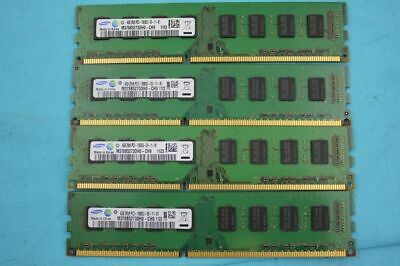 16GB 4 x 4GB DDR3 1600MHz PC3-12800U DESKTOP Memory RAM Non ECC 1600 Low Density
