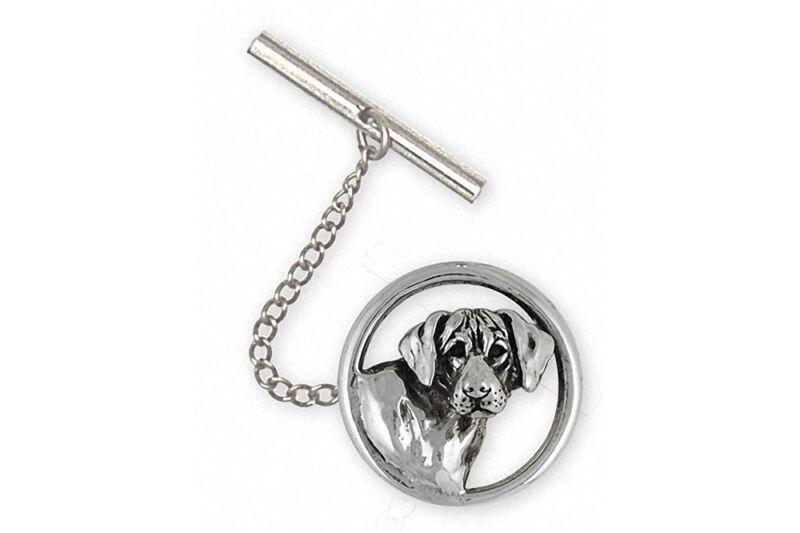 Rhodesian Ridgeback Tie Tack Jewelry Sterling Silver Handmade Dog Tie Tack RDG3-