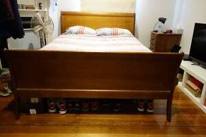 Queen Size Timber Bed Frame Queensize Slat Bed - Pick up St Kilda Balaclava Port Phillip Preview