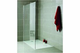 1200 x 700 walk in Shower enclosure Tray and Side panel, New, Free delivery in Bristol