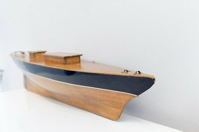 Pinned Planked Varnished Pond Yacht Of A Classic Racing Yacht Of The 1920s for sale  Shipping to Ireland