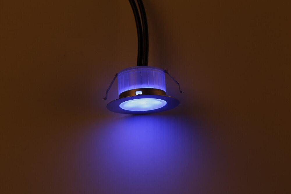 20er set rgb 31mm 12v led bodenstrahler einbauleuchte au en garten lampe spot ebay. Black Bedroom Furniture Sets. Home Design Ideas