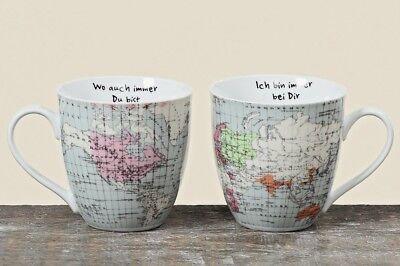 Jumbobecher Weltreise 2er Set Kaffeebecher 600ml