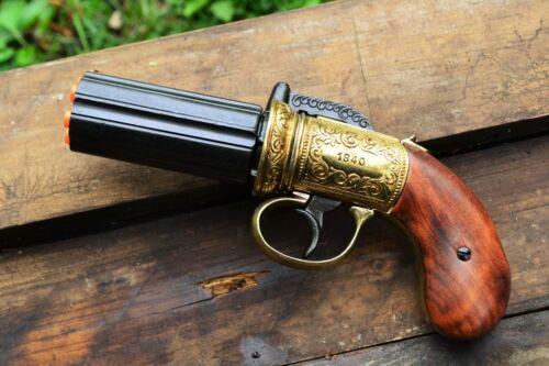 1840 Pepperbox Derringer Pistol - Civil War - Steampunk - Denix Replica Gun