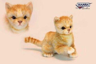 Hansa Toys Ginger Kitten 6492 Plush Stuffed Animal Cat New Christmas Gift