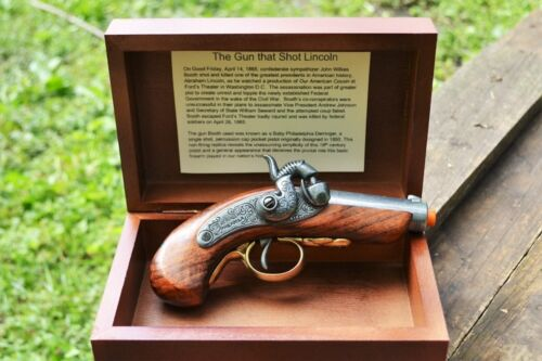 Baby Philadelphia Derringer Abraham Lincoln Assassination Box Set Denix Replica