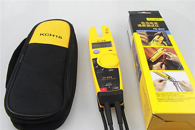 New Fluke T5-600 Clamp Continuity Current Electrical Tester Soft Case Kch16