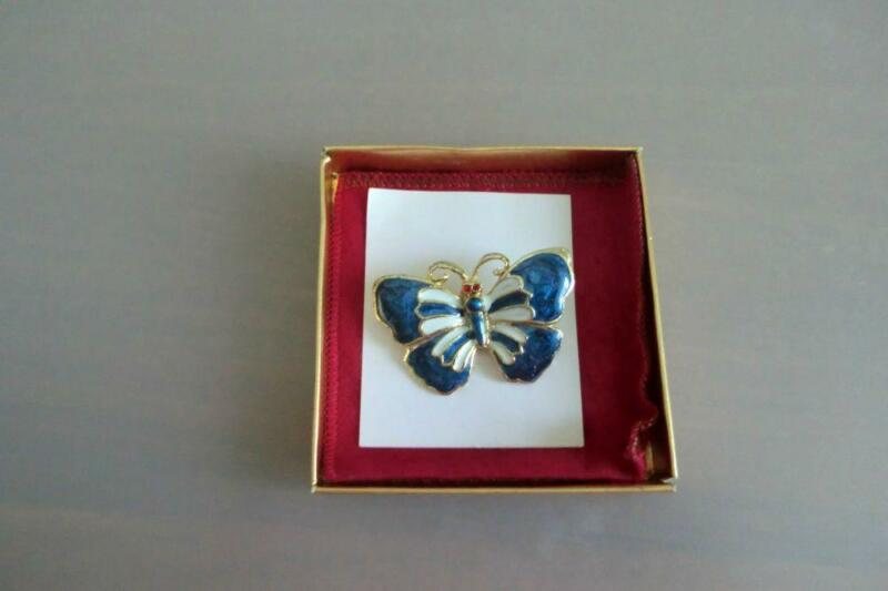 Brooch N.Z Gemstone in Butterfly Design