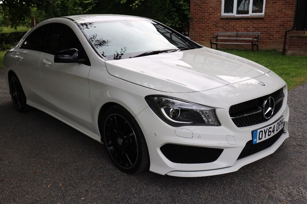 mercedes cla cla 220 cdi amg sport 7g dgt white 2014. Black Bedroom Furniture Sets. Home Design Ideas