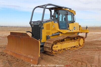 2018 John Deere 850k Crawler Dozer Tractor Cab Heat Ac Ripper Bidadoo