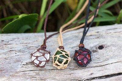 Women Men's Interchangeable Macrame Pouches Necklace Rope Hippie Boho Tribal](Mens Hippie Jewelry)