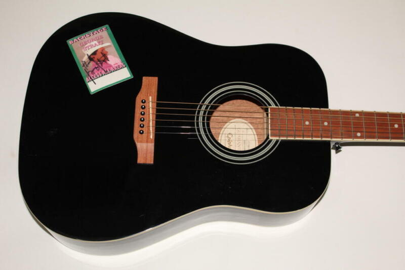 GEORGE STRAIT SIGNED AUTOGRAPH GIBSON EPIPHONE ACOUSTIC GUITAR - COUNTRY LEGEND