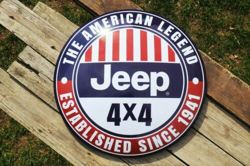 JEEP American Legend Since 1941 Domed Button Tin Metal Sign - Wrangler - Rubicon