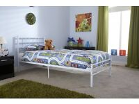 Single Metal Bed Frame BRANDNEW Flat Pack FREE-Delivery 5 Colours