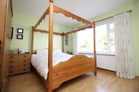Solid pine Kingsize 4 poster bed. RRP £450 Accept £150