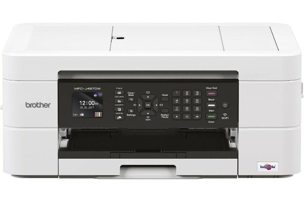 Brother Multifunktionsdrucker Tinte MFC-J497DW 4-in-1 WLAN Duplex weiß