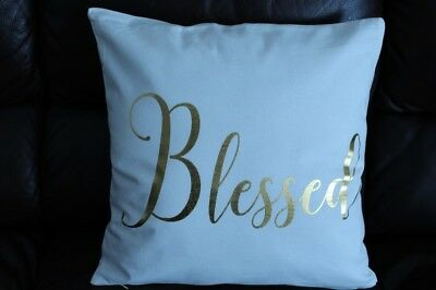18 in throw pillow blessed