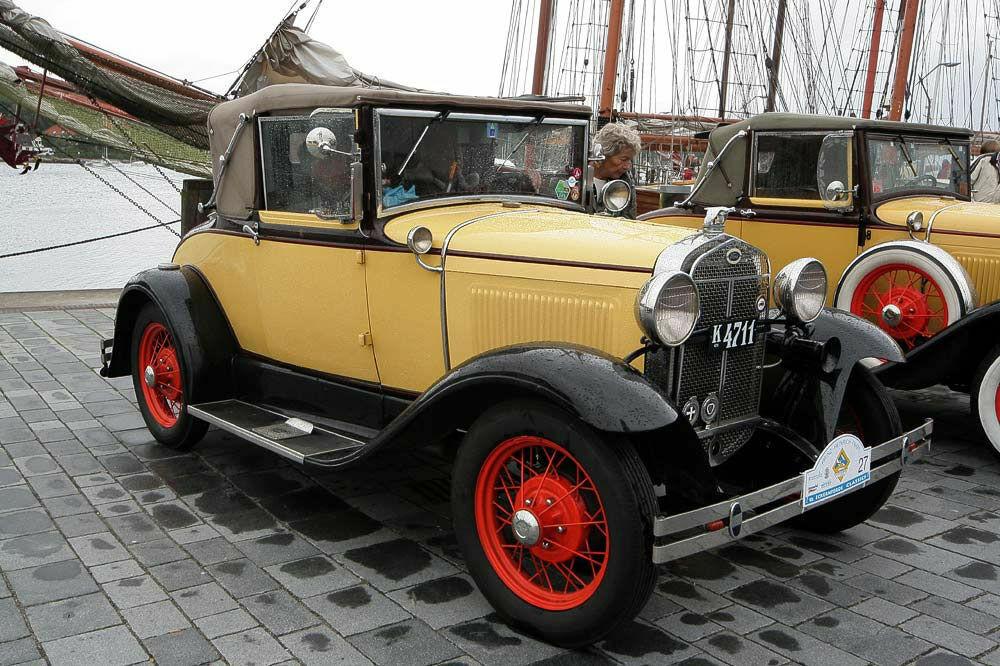 Ford A am Museumshafen von Eckernförde