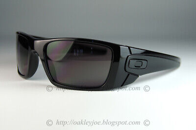 Oakley Fuel Cell Sunglasses OO9096-01 Polished Black Frame W/ Warm Grey Lens