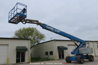 2014 Genie S85 85 4wd Diesel Telescopic Boom Lift Jib Aerial Platform Bidadoo