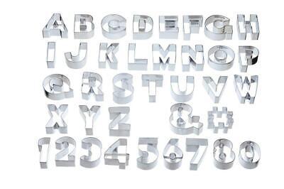 Kitchen Craft 34 Piece Metal ABC Letter & Number Cookie Cutter Set