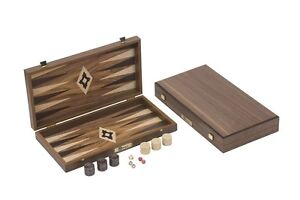 New Standard Walnut Backgammon Set Back Gammon Board Backgammon Pieces Dice Sets