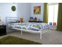 Single Bed Metal Bed Frame Brandnew Flat Pack FREE-Delivery 5 Colours