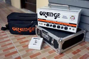 Orange Dual Terror with Case and Footswitch