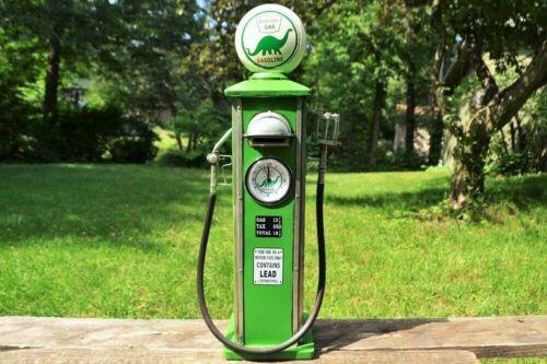 Handmade Tin Sinclair Gasoline Gas Pump Model & Bank - Tinplate - Dino - Retro