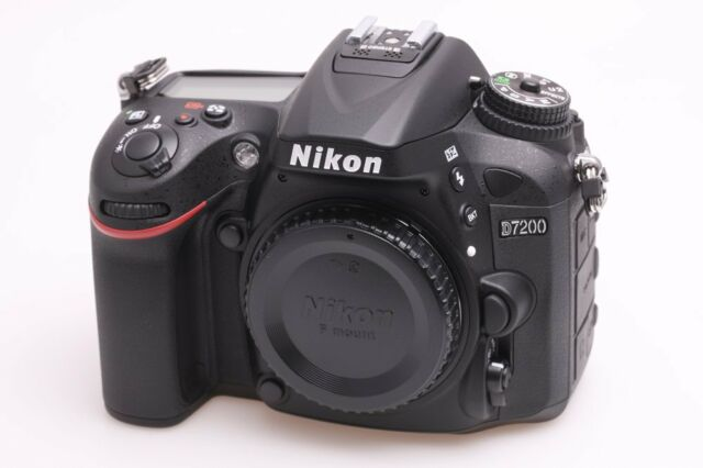 Nikon D7200 Body only 24.2 MP Black Digital SLR Camera D-7200 ~ Brand NEW