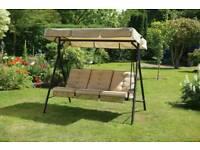 3 seater Metal garden hammock swing seat