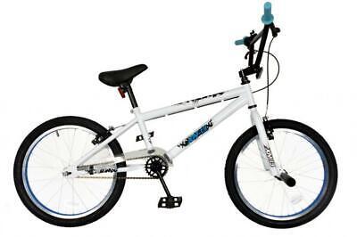 """NEW* XN-13-20 Kids Freestyle BMX Bike Boys Unisex 20"""" Wheel Junior Bicycle White"""