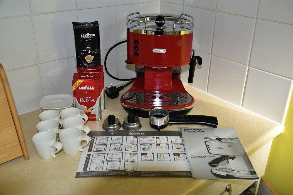 Delonghi Icona Espressoamericano Coffee Machine Red 55 Ono In Cramlington Northumberland Gumtree