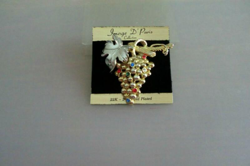 Branded: Image D'Paris Brooch (Grapes Design)