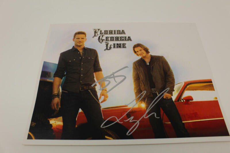 FLORIDA GEORGIA LINE SIGNED AUTOGRAPH 8X10 PHOTO - TYLER HUBBARD & BRIAN KELLEY