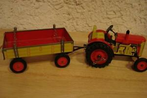 Zetor Tin Tractor and Trailer