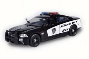 2011 DODGE CHARGER PURSUIT POLICE W/LIGHT & SOUND 1/24 DIECAST CAR MOTOR MAX