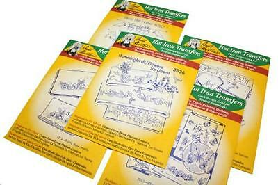 Aunt Martha's Iron On Transfer Patterns for Stitching, Embro