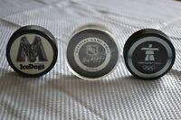 Set of 3 Official Hockey Pucks