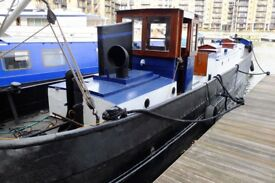 Beautiful 1920s, 52ft Classic Dutch Barge in Exclusive St. Katharine Docks