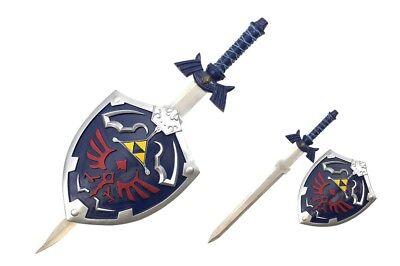 New Zelda Link's Hylian Shield and Master Sword Wall Display