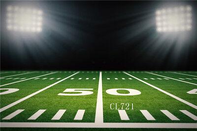 Football Field Background (10x8FT American Football Field & Stadium Vinyl Studio Backdrop Photo)