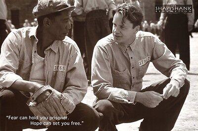 Shawshank Redemption   Movie Quote Poster 24X36 Freeman Robbins 42461