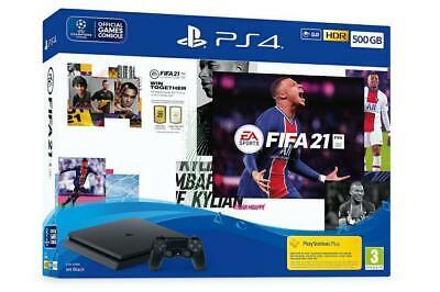 Sony Playstation 4 PS4 500GB F Slim HDR + Fifa 21 Console+Gioco Nuovo Originale